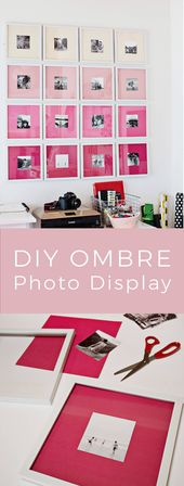 Ombre Gallery Wall – A Beautiful Mess