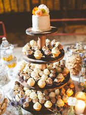 16 Wedding Cake Ideas With Cupcakes – A A Süßspeisen / Sweet Dishes