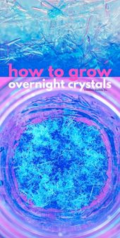 Science for Kids: Learn How to grow crystals overnight using epsom salt. Great s... 2