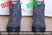 Lace Tutorial | Tie hiking shoes properly
