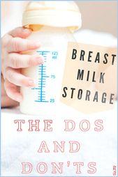 Die Aufbewahrung von Muttermilch kann schwierig sein. Sie wissen nicht, wie lange …   – Pregnancy