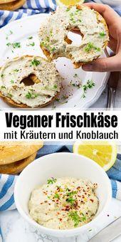 Veganer Cashew-Frischkäse