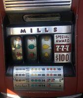 Mills Slot Machine Award Plate