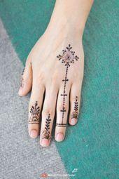أجمل أصابع العيد البسيطة بأفكار تصميم الحناء الخاصة بالفتيات أشهر تصميم الحناء على اليوتيوب Finger Henna Hand Henna Henna Hand Tattoo