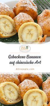 Gebackene Bananen im chinesischen Stil. # Kochen #Rezepte #Einfach # Lecker   – Rezepte