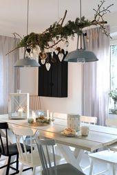 Weihnachtliche Tischdeko im Scandistyle – Wohnzimmer einrichten