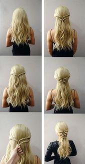 Mittelalterliche Frisuren Schritt für Schritt #coiffures #etape …  #coiffures… – Frisuren Kinder