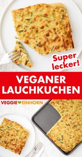 Veganer Lauchkuchen ▶ Einfaches veganes Rezept