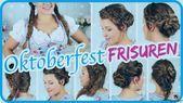 Einfache OKTOBERFEST FRISUREN zum Dirndl II Sissi – #Abwechslung, #Anleitung, #B… – Neue Frisuren