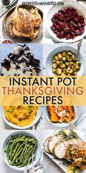 Machen Sie die perfekte Thanksgiving-Mahlzeit einfacher. Dieses sorgfältig kuratierte Instant Pot Th …