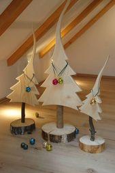 Photo of Natürlicher Tannenbaum aus Massivholz: modern aus Baumelementen, modern – #ho …