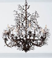 Hand crafted wrought iron chandelier with swarovski crystal drops hand crafted wrought iron chandelier with swarovski crystal drops new house ceiling stuff pinterest wrought iron chandeliers iron chandeliers and mozeypictures Choice Image