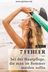 7 Haarfehler, die im Sommer vermieden werden sollten ,  #die #Haarfehler #Haarpflegenachblond…