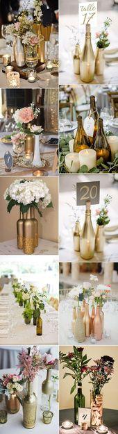 creative diy wine bottles wedding centerpieces #weddingideas #weddingdecor #wedd…
