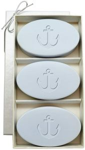 Carved Solutions Signature Spa Anchor 3-bar soap set   – Bath Shower Accessories
