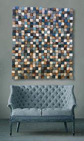 Large Wood Wall Art Wood Sound Diffusor Reclaimed Wood Art | Etsy