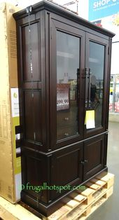 Martin Furniture Glass Door Lighted Bookcase Costco Frugalhotspot Pinterest Doors And