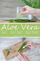 Aloe Vera Gel selber machen in nur drei Schritten