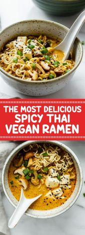 The Most Delicious Spicy Thai Vegan Ramen