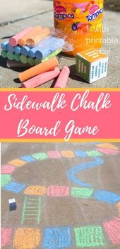 Sidewalk Chalk Board Game for Families  – Summer Activities for Kids