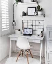 Ok.. Im just obsessing over cute and small office spaces! I need a new desk area… – #area …