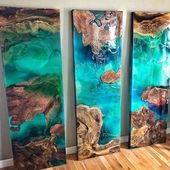 "Epoxy Resin Art 🎨 on Instagram: ""Rate these beautiful Emerald Baysð …"