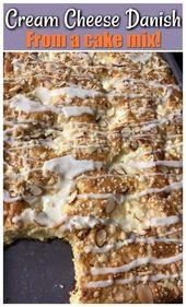 Kuchenmischung Frischkäse Dänisch | Southern Plate s # easy #rezepte #dessert #southern …