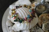 Reiki Attuned Multi Colored Fresh Water Pearl Bracelet  – Mystical Heart Creations ~ My Etsy Shop