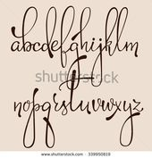 Handwritten pointed pen ink style decorative calli…