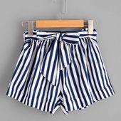 Streifen Shorts Hose PU27   – Art