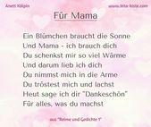 """Gedicht für #Muttertag – für #Kindergarten und #Grundschule – aus """"Reimen und G"""