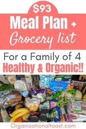 week 12 – $93 Grocery Haul and Meal Plan