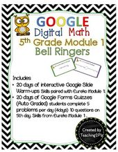 fifth Google Digital Math Bell Ringers Module 1