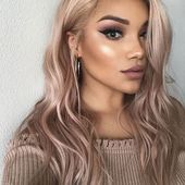 36 beautiful rose gold hair color ideas   – Blumen Rosen
