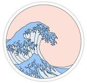 aesthetic wave | Sticker – #Aesthetic #macbook #St…