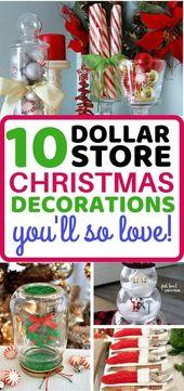 10 Genius Dollar Store Christmas Decorations To DIY