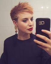 Wer kann etwas mehr Farbe in dieser tristen Jahreszeit gebrauchen? Verlinke sie in einer Reaktion! – Damen Frisuren – – #Kurzhaarfrisuren