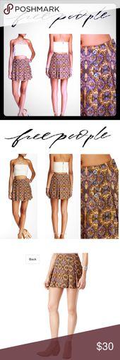 NWT ? FREE PEOPLE Lover's Lane Printed Mini Skirt FREE PEOPLE Lover's…