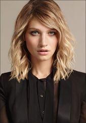Frisuren Halblang Hellbraun Runde Gesichter Haarst…