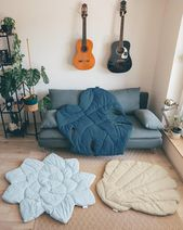 S size Succulent linen mat plant lover mat plants lover gift plant mat succulent blanket floor pillow plant play mat living room floor decor