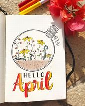 15 Wonderful April Bullet Journal Cover Pages to I…