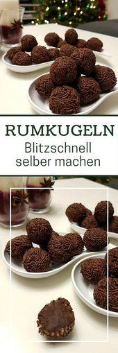 Rezept: Rumkugeln aus geriebener Schokolade selber machen – Alkohol