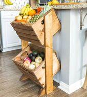 17 Ausgezeichnete Ideen für die Aufbewahrung von Küchen mit Recycling alter Kisten – Dekoration De