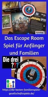 Exit Spiel – für Einsteiger mit den drei Fragezeichen ??? – Familienspiele