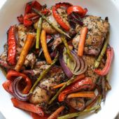 Balsamic Chicken with Roasted Vegetables   – Clean eating – #Balsamic #Chicken #…