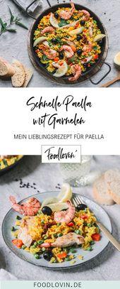 Einfaches Paella-Rezept mit Garnelen und Hühnchen – Foodbloggers from Germany