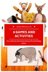 8 party games and activities for a Winnie the Pooh first birthday party #kidspar…