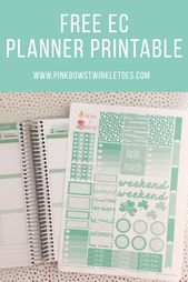 March Functional Planner Stickers: Free Printable – Pink Bows & Twinkle Toes