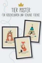 Kinderzimmer Poster für Jungen und Mädchen – Babyzimmer / Kinderzimmer Poster, Kinderzimmer Bilder, Kinderzimmer Poster Tiere, Kinderzimmer Poster Jungen, Kinderzimmer Poster Mädchen