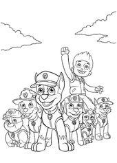 Aneka Gambar Mewarnai Gambar Mewarnai Paw Patrol Untuk Anak Paud